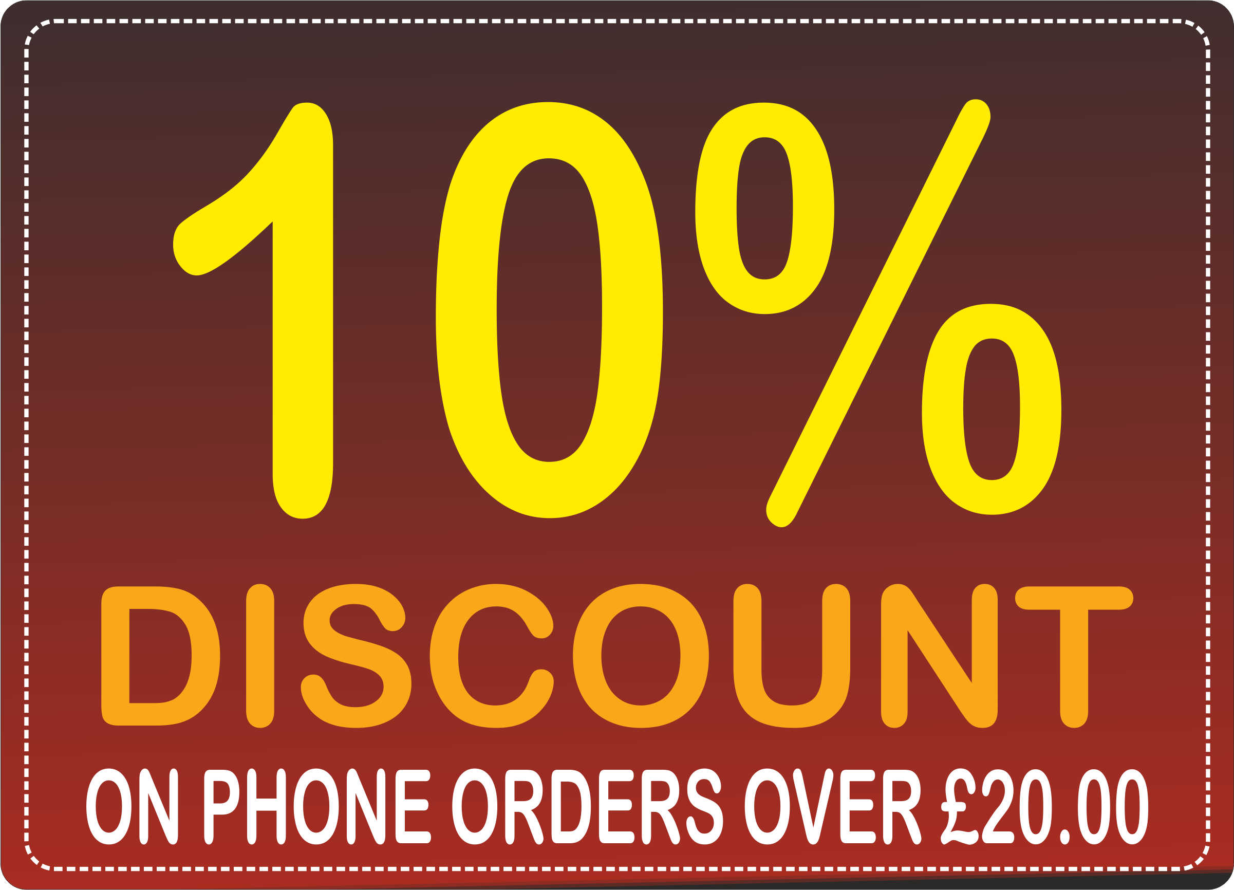 phone order discount